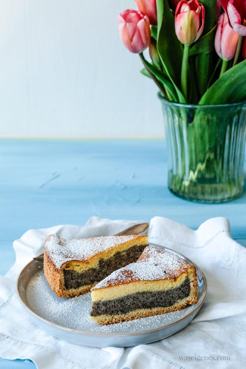 Rezept: Mohnkuchen mit Puddingschicht, waseigenes.com