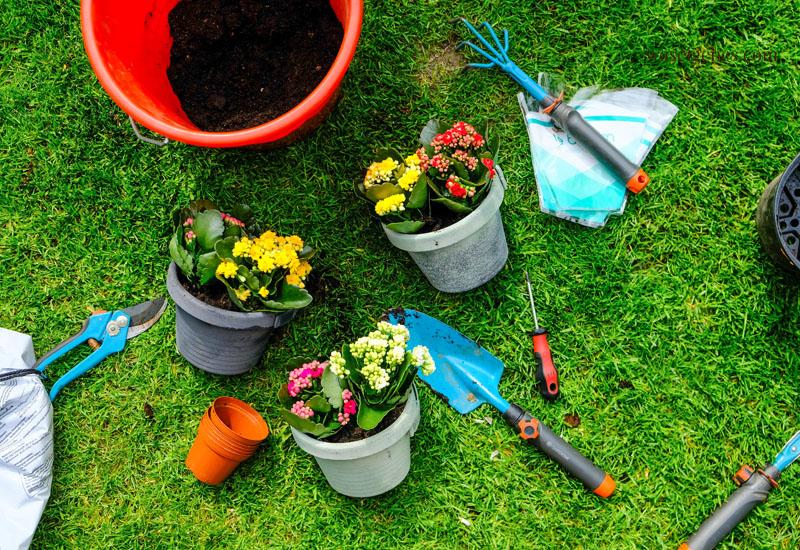 Bepflanzte Regenrohr Blumentöpfe mit kleinen Kalanchoe, waseigenes.com #garten #blumentopf #kalanchoe