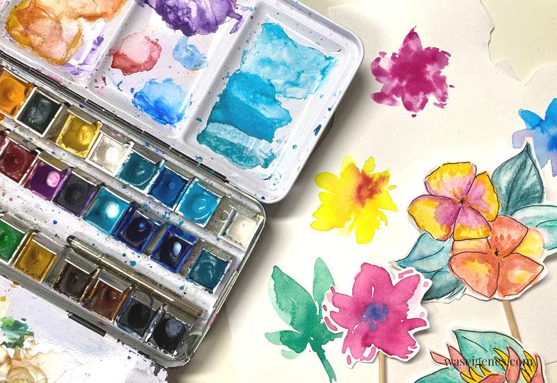 12 von 12 im Juni 2020 | Mein Tag in Bildern - waseigenes.com - Aquarellfarben