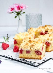 Rezept: Himbeer-Streuselkuchen mit Vanillepudding   waseigenes.com