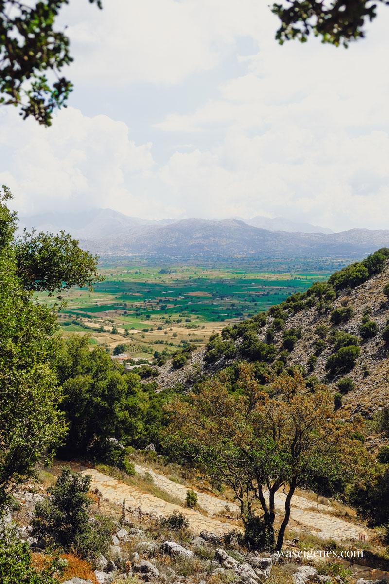 Lasithi-Hochebene auf Kreta | Aufstieg zur Zeus Höhle in Psychro | Diktéon Ántron | waseigenes.com