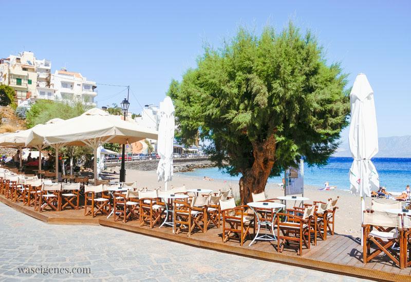 Kreta - Café & Restaurant Palazzo am  Kitroplateia Beach in Agios Nikolaos - Griechenland - waseigenes.com