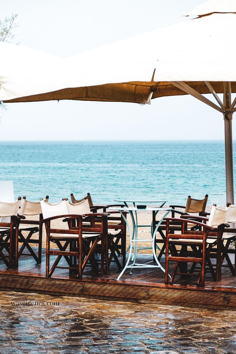 Kreta - Kitroplateia Beach in Agios Nikolaos - Terrasse vom Palazzo Café   Griechenland - waseigenes.com