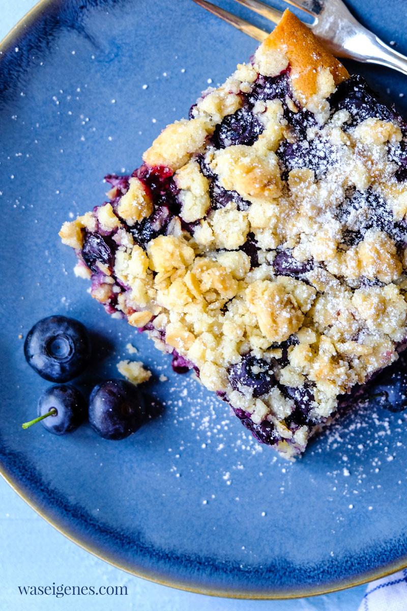 Rezept für einen leckeren Blaubeerkuchen mit Haferflocken-Streusel | waseigenes.com