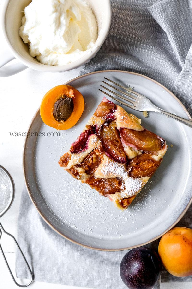 Blechkuchen Rezept: Blechkuchen mit Zwetschgen und Aprikosen | waseigenes.com