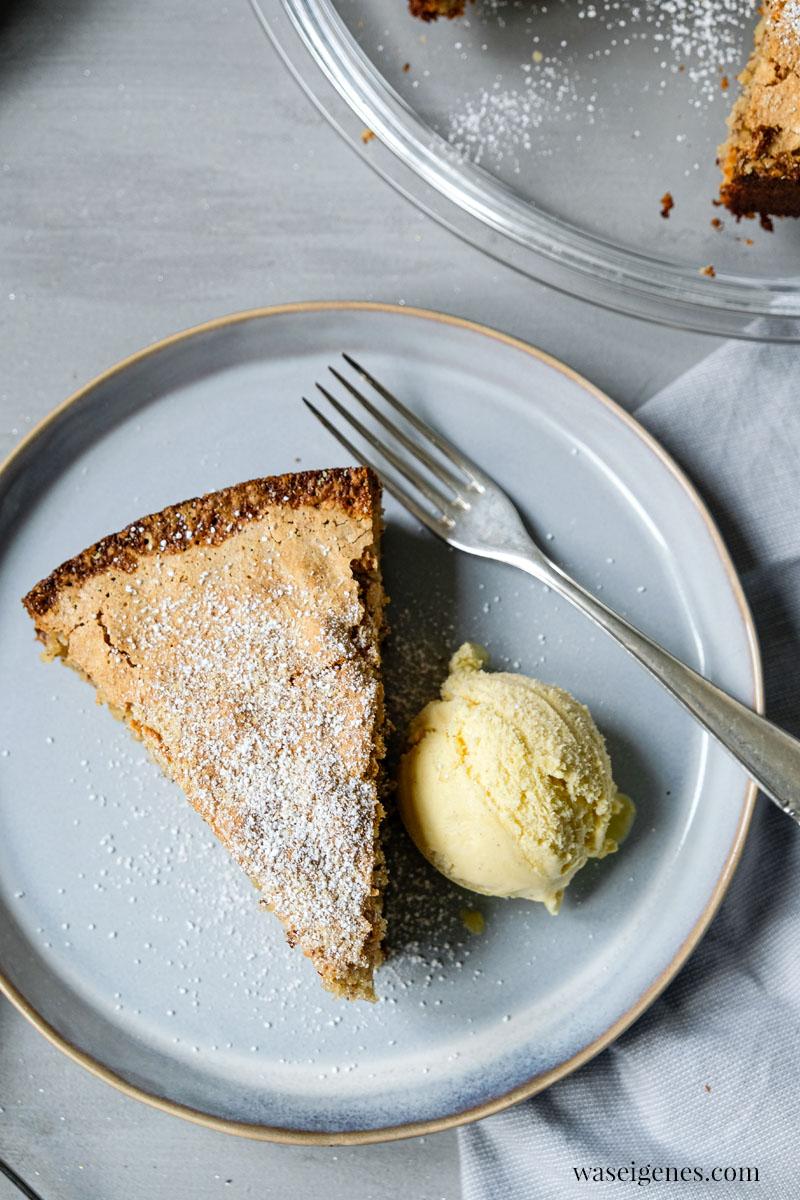 Rezept für einen leckeren Kuchen, gebacken mit nur drei Zutaten (ohne Mehl) - Mandelkuchen | waseigenes.com