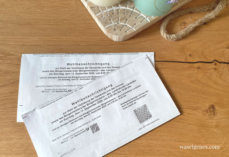 12 von 12 im September 2020 | Mein Tag in Bildern | waseigenes.com - Kommunalwahl
