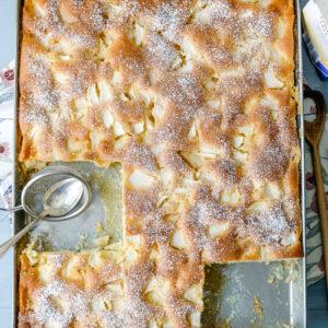Ruck Zuck Apfelkuchen vom Blech | waseigenes.com