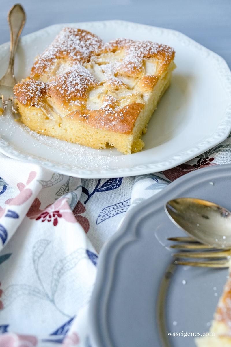 Rezept: Ruck zuck Apfelkuchen vom Blech, schneller Rührteig und saftige Äpfel | waseigenes.com  | Sabine Güllich