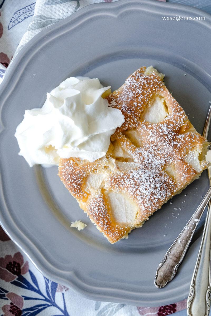 Rezept: Ruck zuck Apfelkuchen vom Blech, schneller Rührteig und saftige Äpfel | waseigenes.com