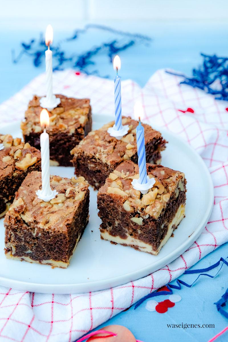 Rezept: Cheesecake Brownies mit Walnüssen -  super saftige Käsekuchen Brownies | waseigenes.com