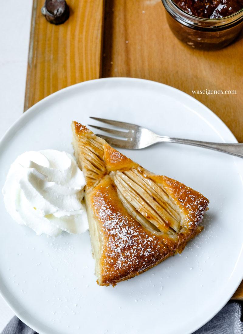 Versunkener Apfelkuchen | Schneller und einfacher Apfelkuchen | Was backe ich heute? | waseigenes.com