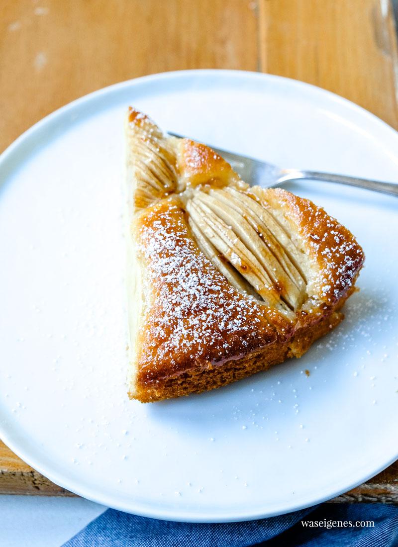 Rezept für einen versunkenen Apfelkuchen   Schneller und einfacher Apfelkuchen   Was backe ich heute?   waseigenes.com