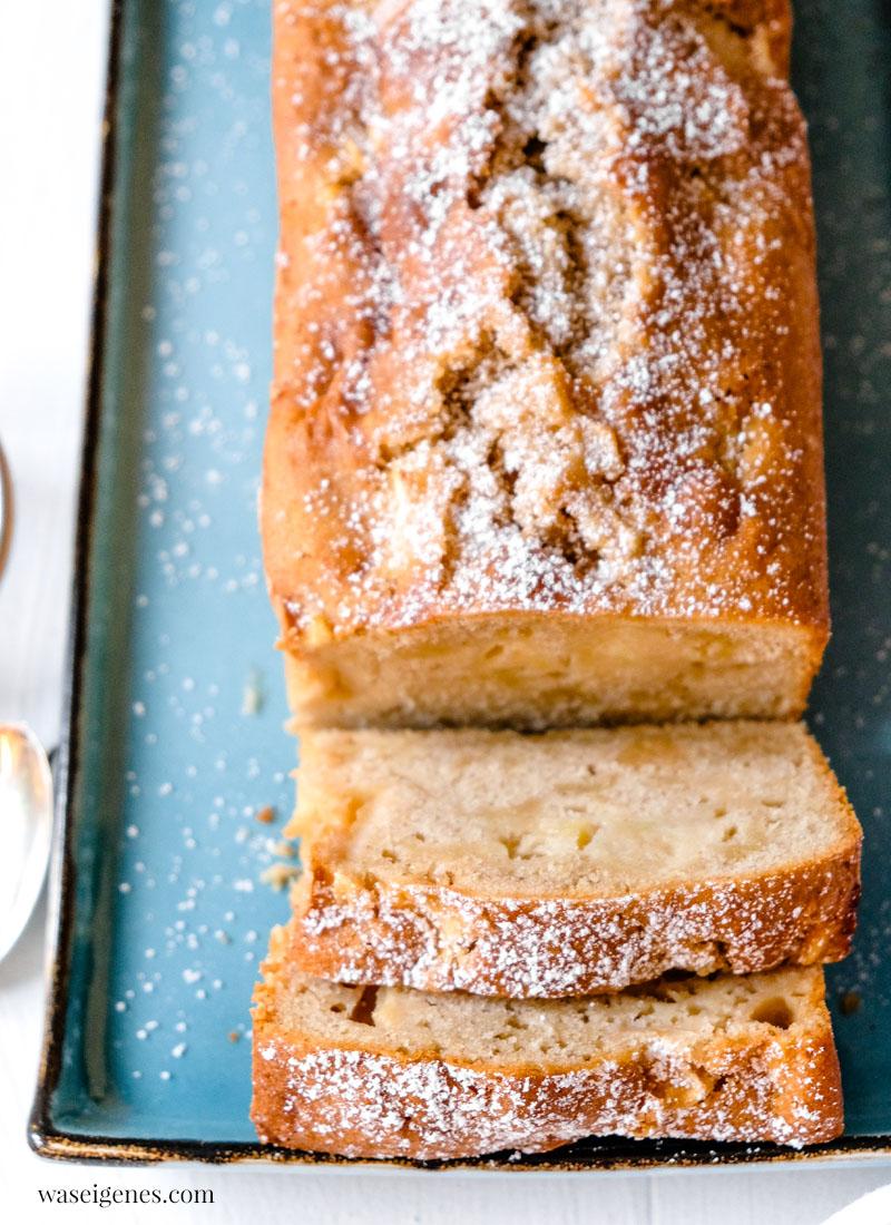 Kastenkuchen Rezept: Schneller Apfelkuchen mit Marzipan und Zimt | waseigenes.com