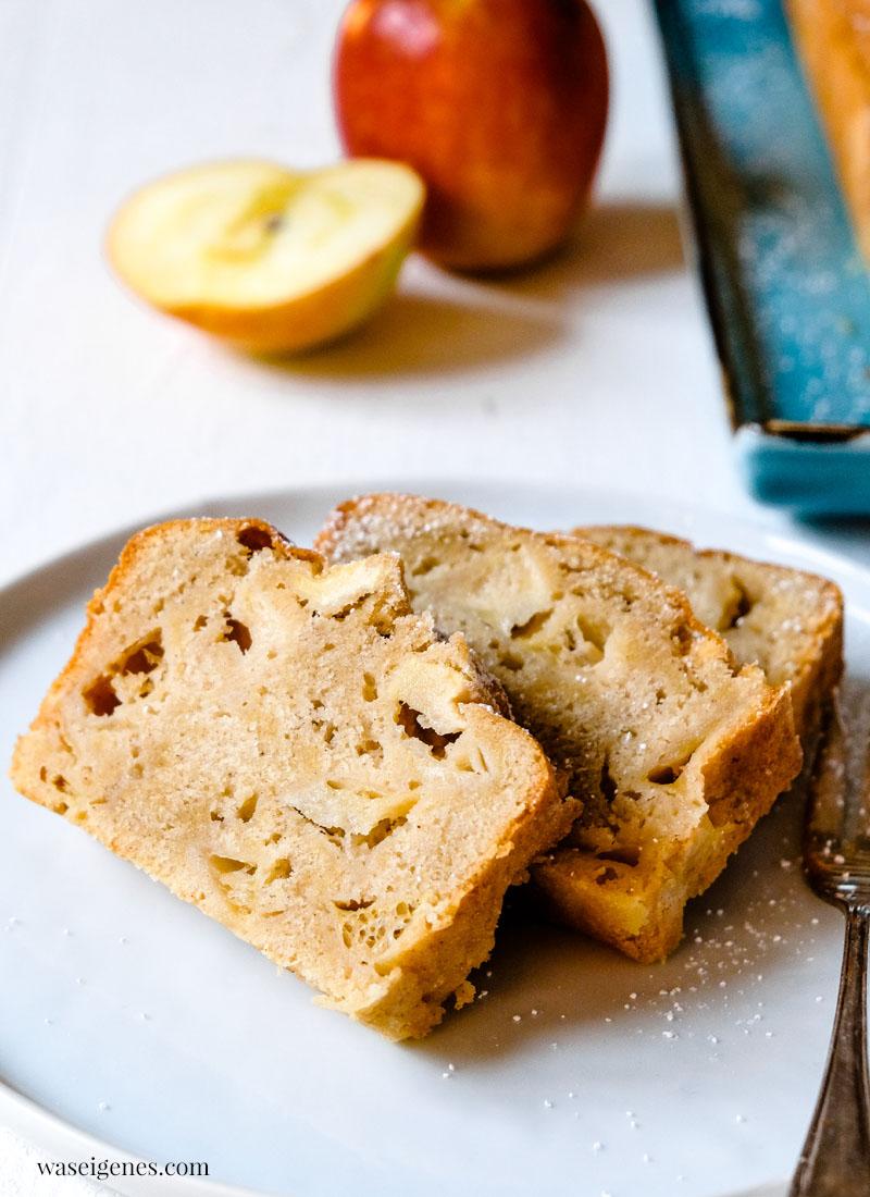 Rezept: Schneller Apfelkuchen mit Marzipan und Zimt - Kastenkuchen | waseigenes.com