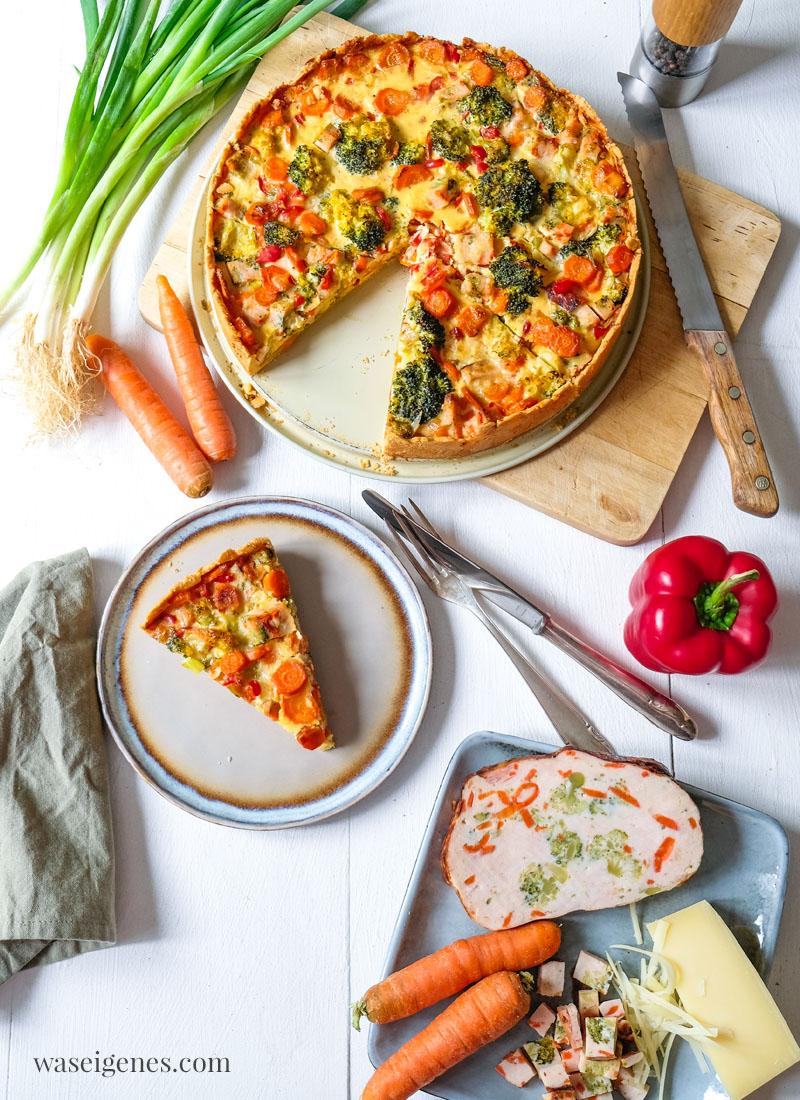 Rezept: Brokkoli-Karotten-Quiche mit Hähnchenbrust | waseigenes.com