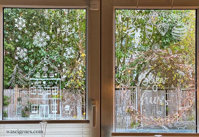 12 von 12 im November 2020 | Mein Tag in Bildern | waseigenes.com | Fenster mit Weihnachtsmotiven bemalen