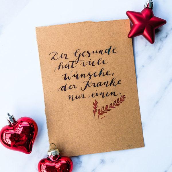 Adventskalender der guten Gedanken & Wünsche ~ Türchen Nr. 5: Der Gesunde hat viele Wünsche, der Kranke nur |waseigenes.com