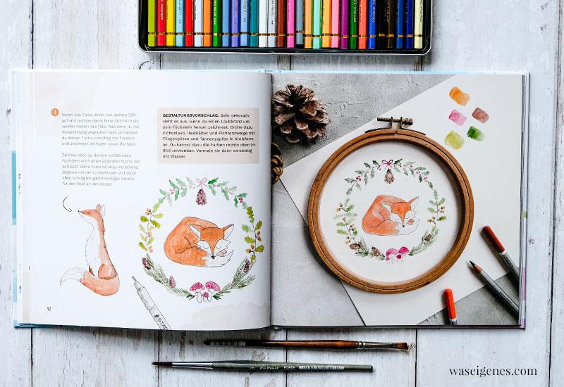 Buchtipp / Weihnachtsgeschenk: Aquarellmalerei und Handlettering lernen | waseigenes.com