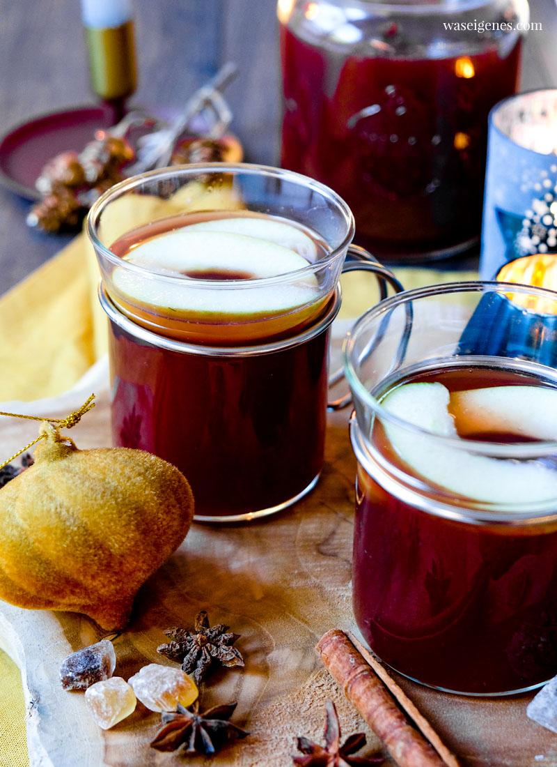 Rezept: Apfelpunsch mit Zimt und Kandis | waseigenes.com - Wärmt kalte Finger und die Seele