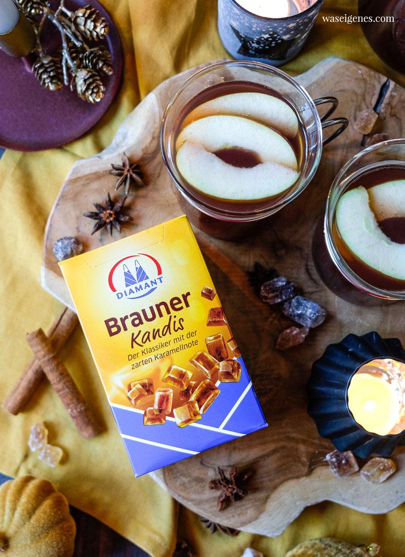 Brauner Kandis von Diamant gibt dem kräftigem Apfelpunsch die nötige Süße | waseigenes.com