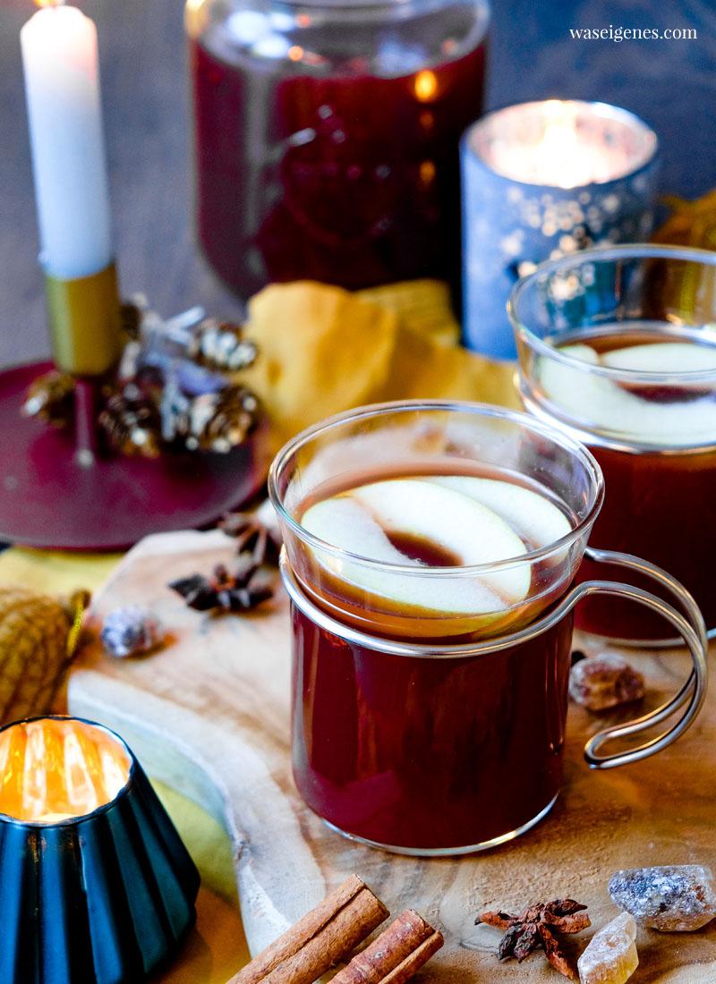 Rezept: Apfelpunsch mit Zimt und Kandis | waseigenes.com