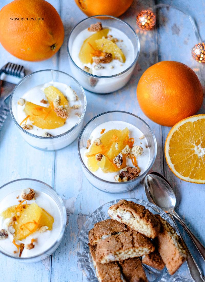 Rezept: Orangen-Dessert mit Cantuccini & Cointreau | Dessert Rezept | Nachtisch | Rezepte für die Familie | Weihnachtsdessert | waseigenes.com