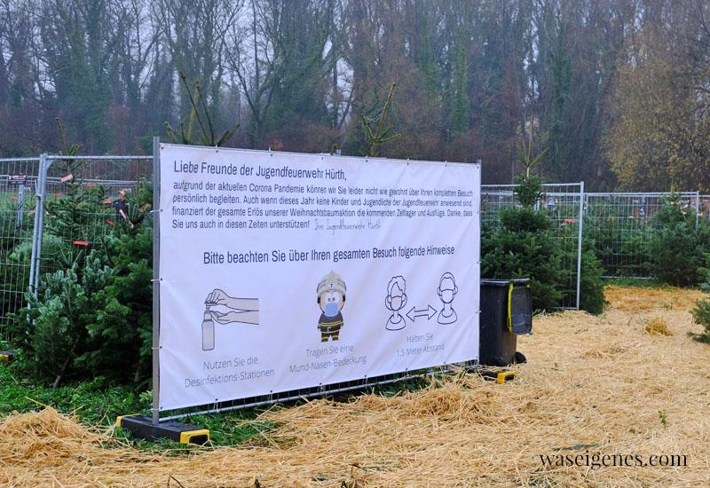 12 von 12 im Dezember 2020 | Mein Tag in Bildern | waseigenes.com | Weihnachtsbaum Verkauf Feuerwehr Hürth