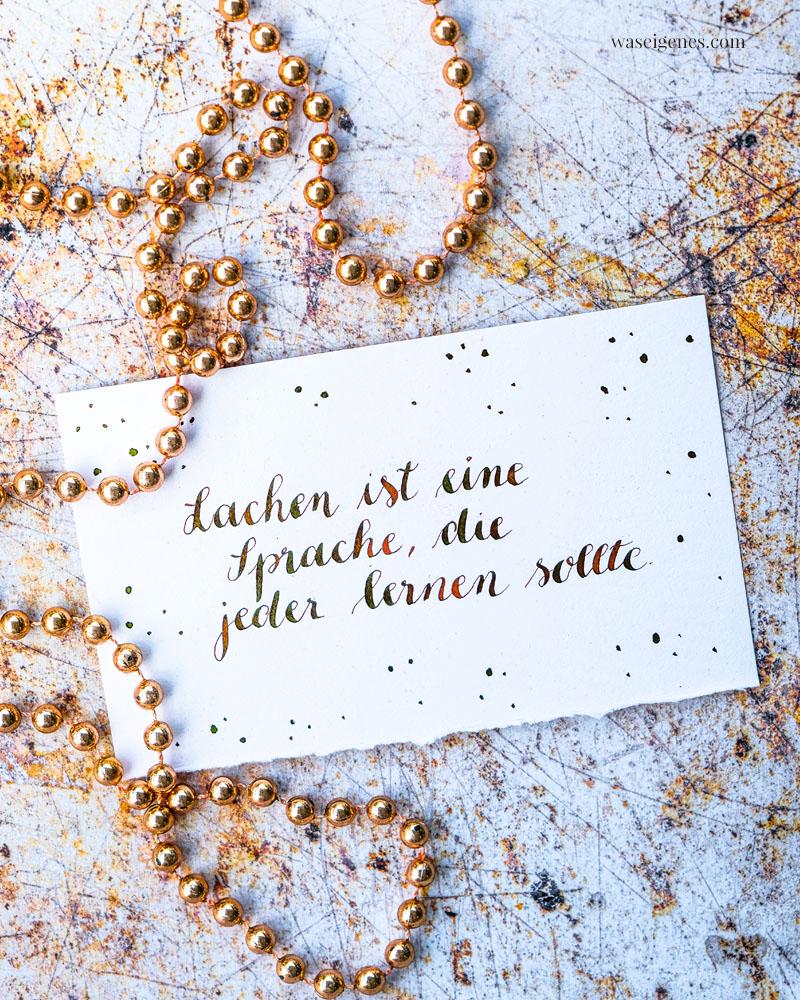 Adventskalender der guten Gedanken & Wünsche {Türchen Nr. 15}: Lachen ist eine Sprache, die jeder lernen sollte. | waseigenes.com