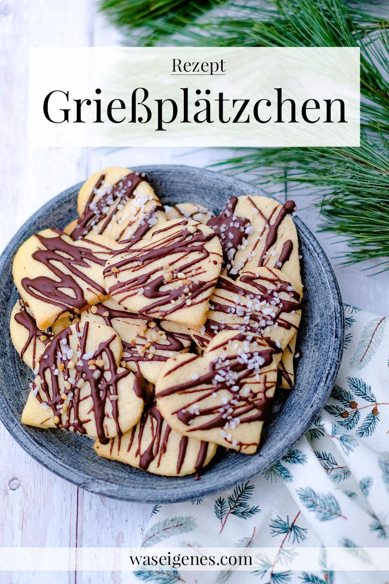 Rezept: Grießplätzchen mit Schokolade, Krokant und Hagelzucker   waseigenes.com   Weihnachtsplätzchen