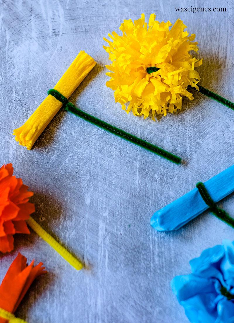 Material zum Basteln von Papier- oder Seidenpapier-Blumen | waseigenes.com