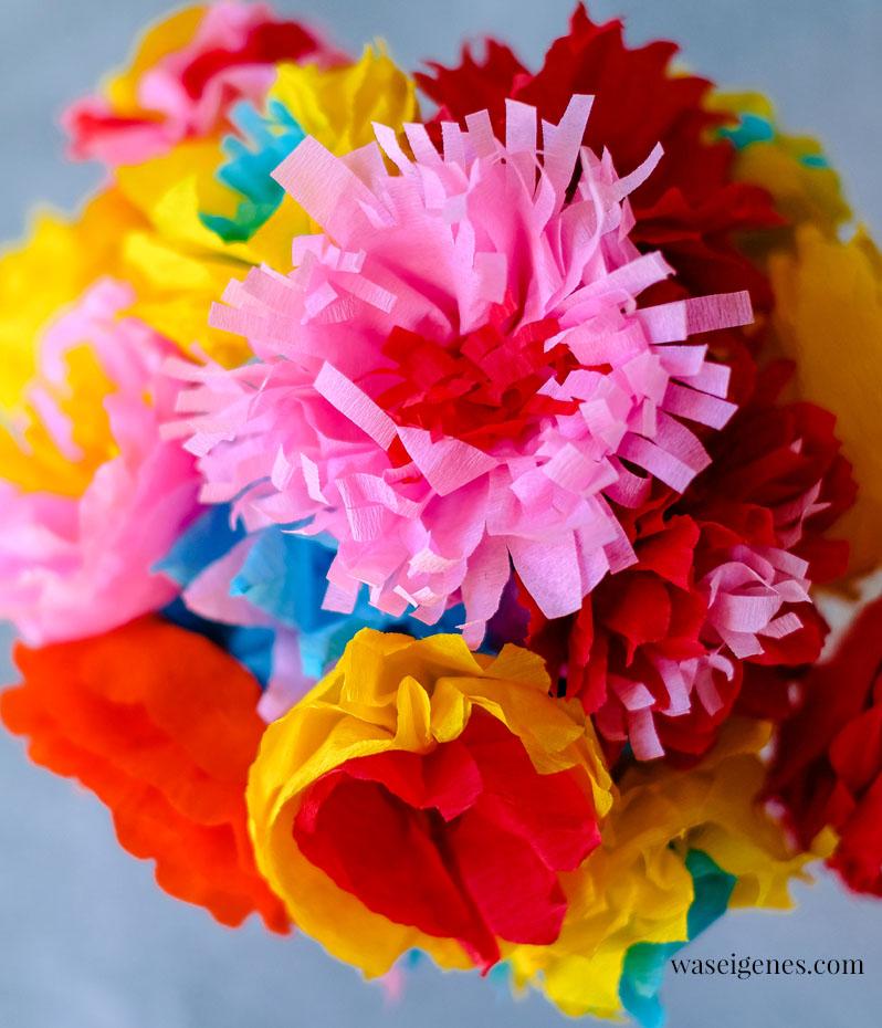 Ein Strauß bunter Blumen aus Papier | waseigenes.com
