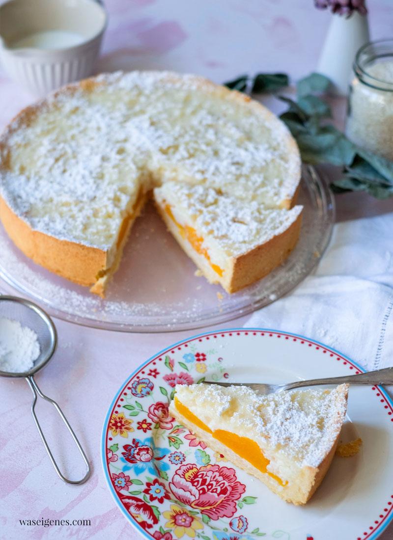 Rezept: Milchreiskuchen mit Pfirsichspalten | waseigenes.com