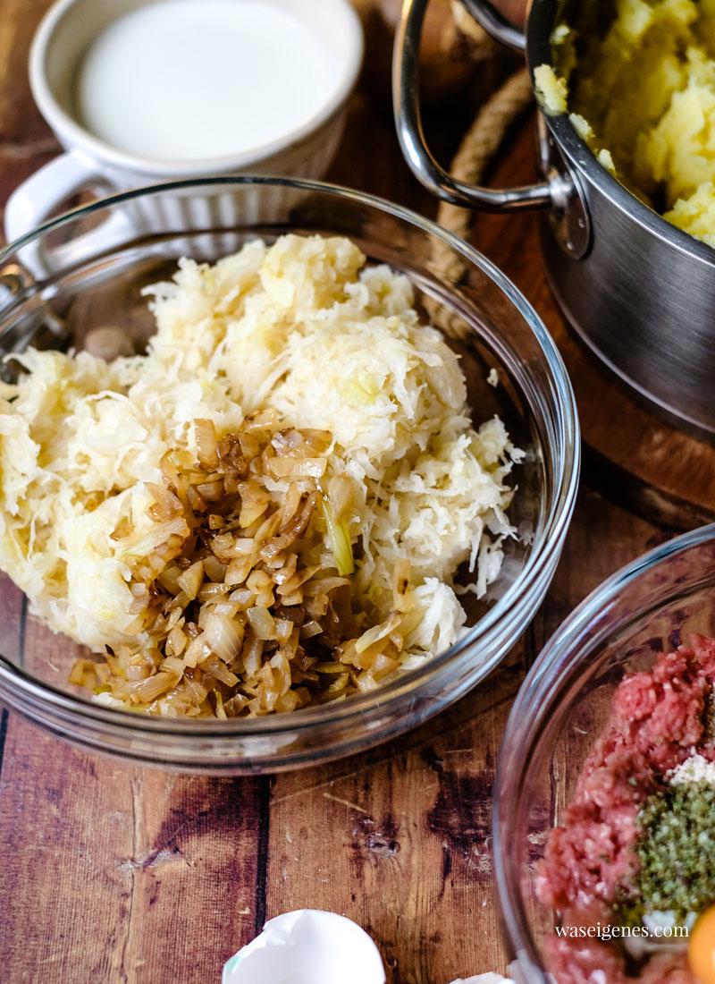 Sauerkraut-Hack-Auflauf mit Kartoffelstampf-Haube | Fix auf dem Tisch | waseigenes.com
