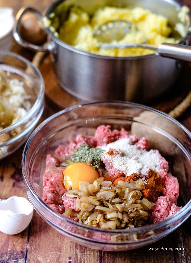 Herzhafter Auflauf mit Sauerkraut, Hack und Kartoffelstampf | Was koche ich heute? Familienrezepte | waseigenes.com