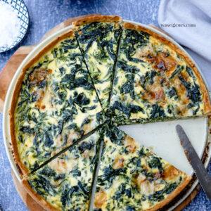 Spinat-Gorgonzola-Quiche