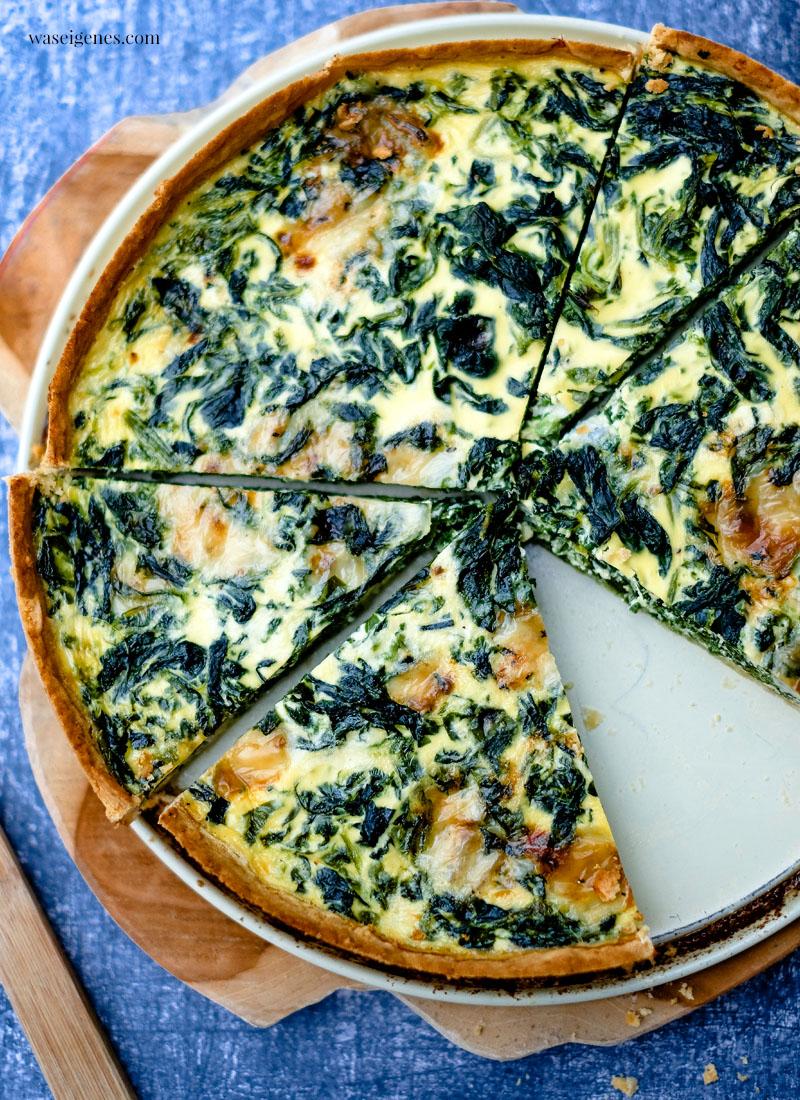 Schnelles und einfaches Rezept für die Familie: Quiche mit Blattspinat und Gorgonzola | waseigenes.com