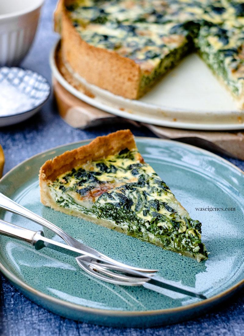 Rezept: Rezept: Spinat-Gorgonzola-Quiche | waseigenes.com | Was koche ich heute? Rezepte für die Familie | schnell und einfach |  waseigenes.com