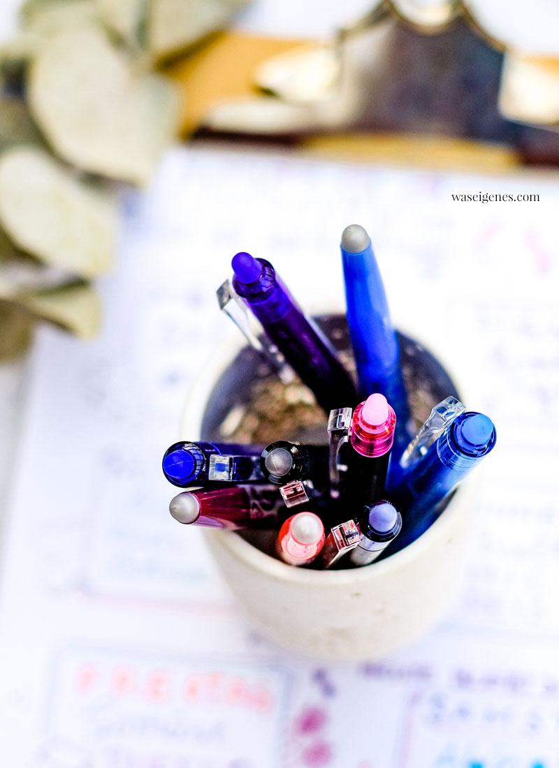Mein wöchentlicher Essensplan - geschrieben mit FriXion Stifte, die sich alle wegradieren lassen | Was koche ich heute? | waseigenes.com