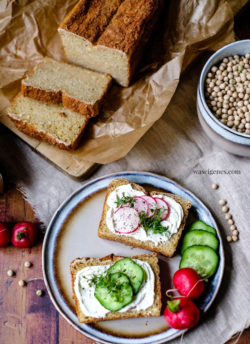 Rezept: Körnererbsen Brot mit Frischkäse, Radieschen und Kresse | Die Körnererbse ist eine leckere Hülsenfrucht mit wertvollen Inhaltsstoffen | waseigenes.com