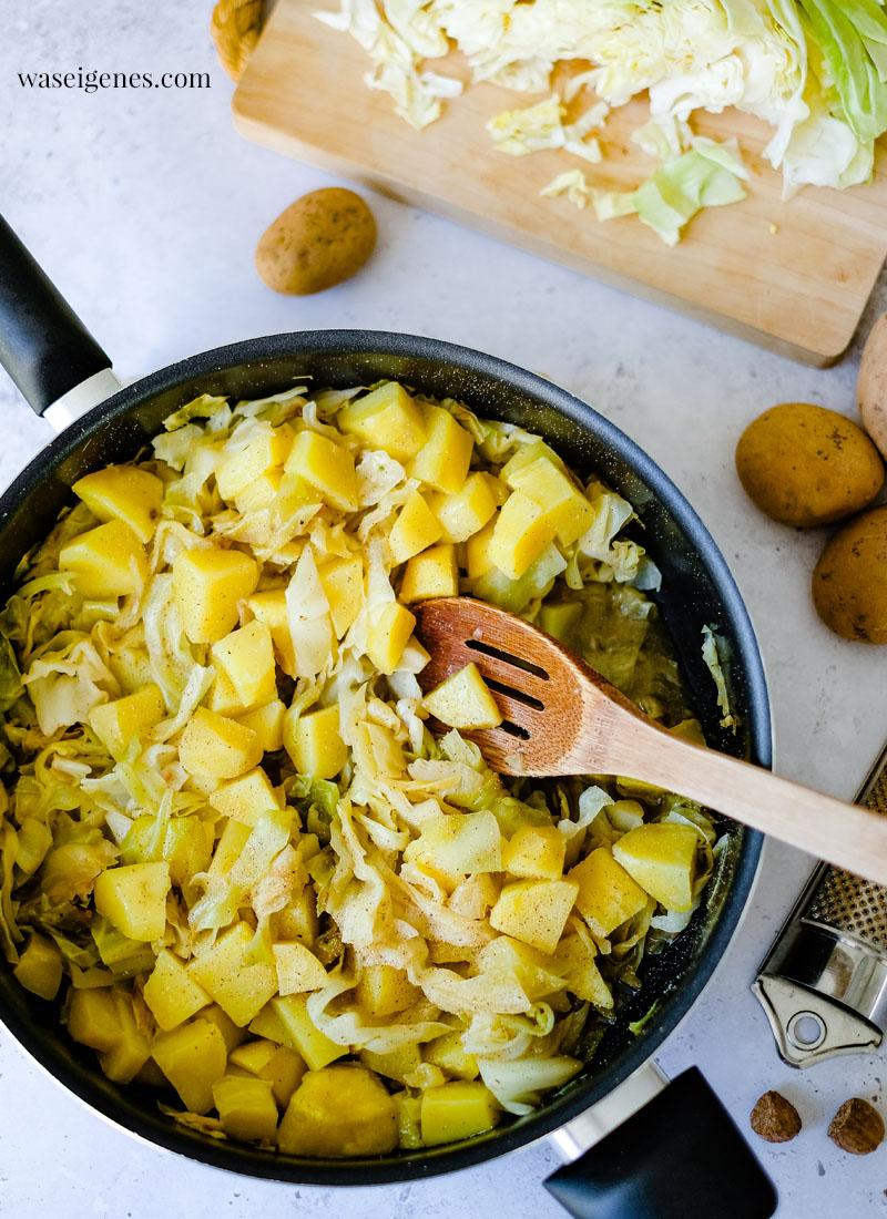 Rezept: Spitzkohl-Kartoffel-Pfanne mit Hack | schnell und einfach, herzhaft und lecker | Was koche ich heute? | waseigenes.com