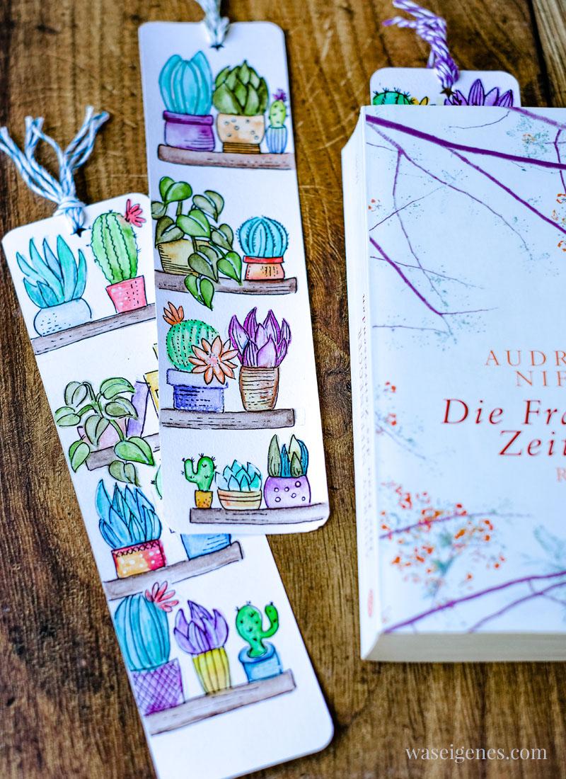 DIY Lesezeichen malen und basteln mit Aquarell Buntstiften | waseigenes.com
