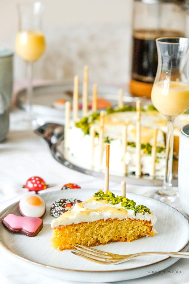 Rezept: Eierlikör Kuchen mit Eierlikör Sahnecreme | Leckeres für die Ostertafel | Rezepte für Ostern | waseigenes.com