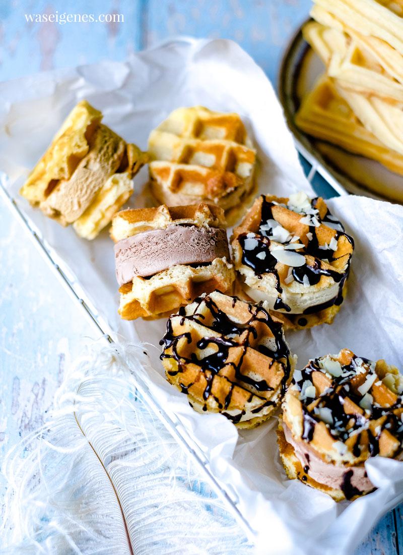 Rezept: Eis Sandwich selber machen - mit köstlichen Waffeln und einer Schicht Eiscreme | waseigenes.com