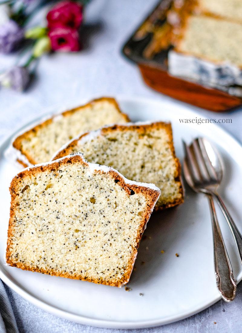 Kastenkuchen: Mohnkuchen mit Vanille und gemahlenen Mohn | Einfach und schnell gebacken | Kuchenrezept | Was backe ich heute? | waseigenes.com