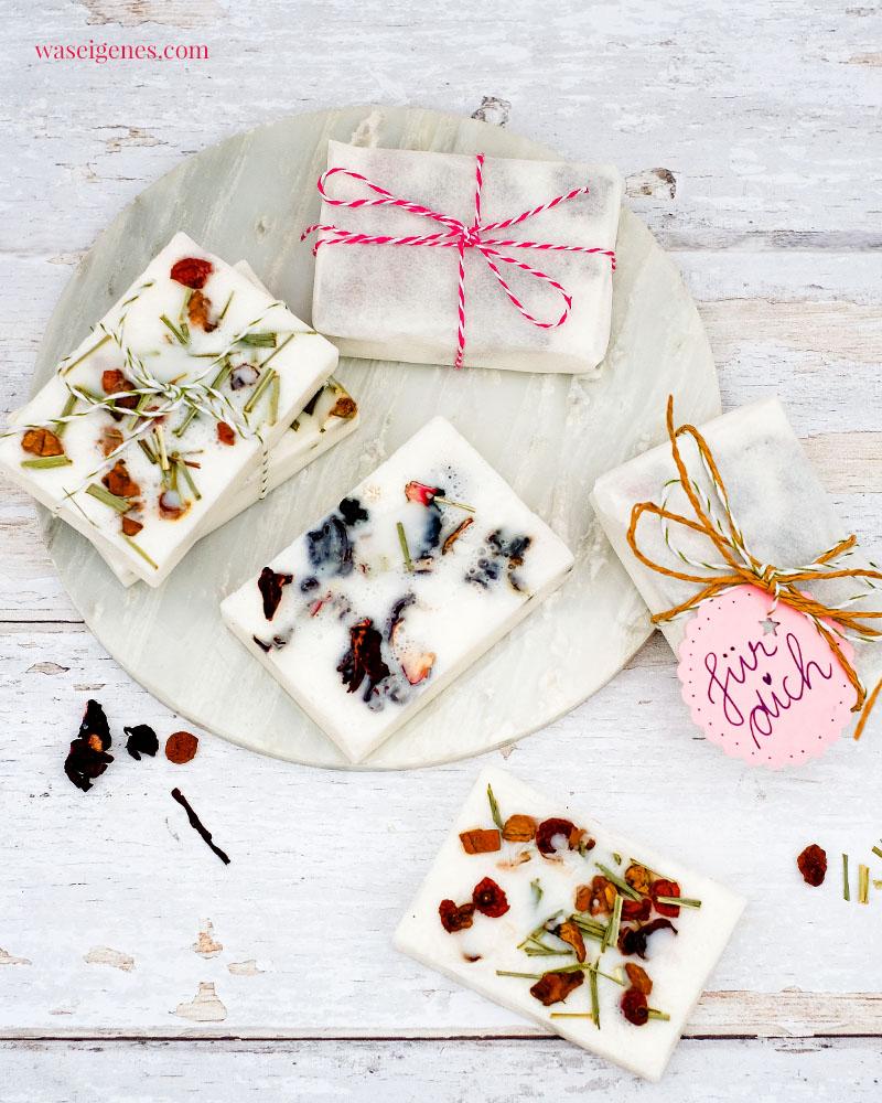 DIY Idee: Seife selber machen mit Blüten-Tee | waseigenes.com