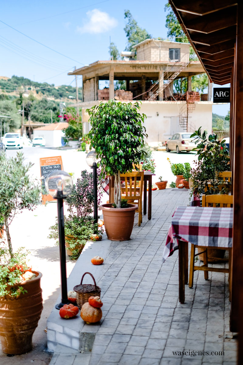 Familienurlaub 2021 - Kreta | Taverne Oinohoos Topolia | waseigenes.com