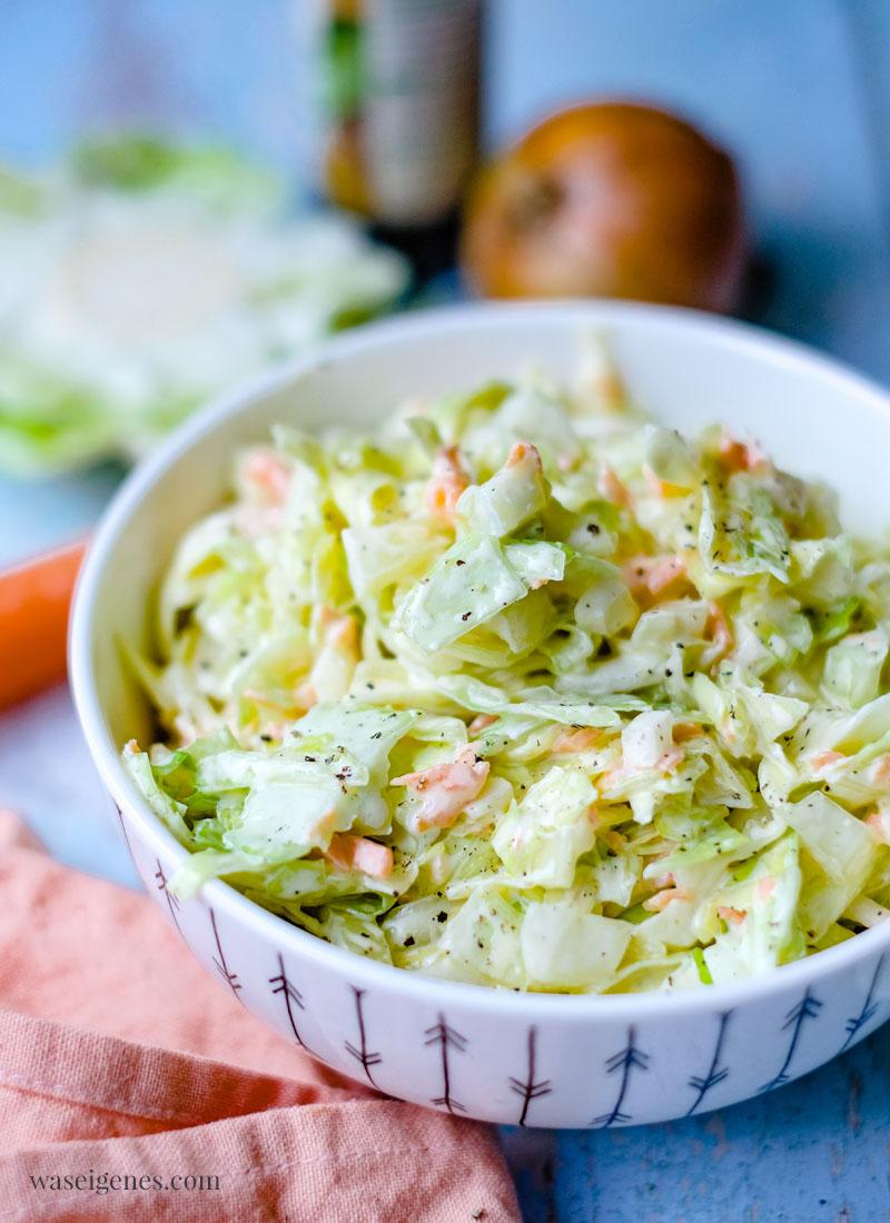 Rezept: Krautsalat mit Karotten und Schmand - schnell und einfach, leicht und lecker | Bine Güllich | waseigenes.com
