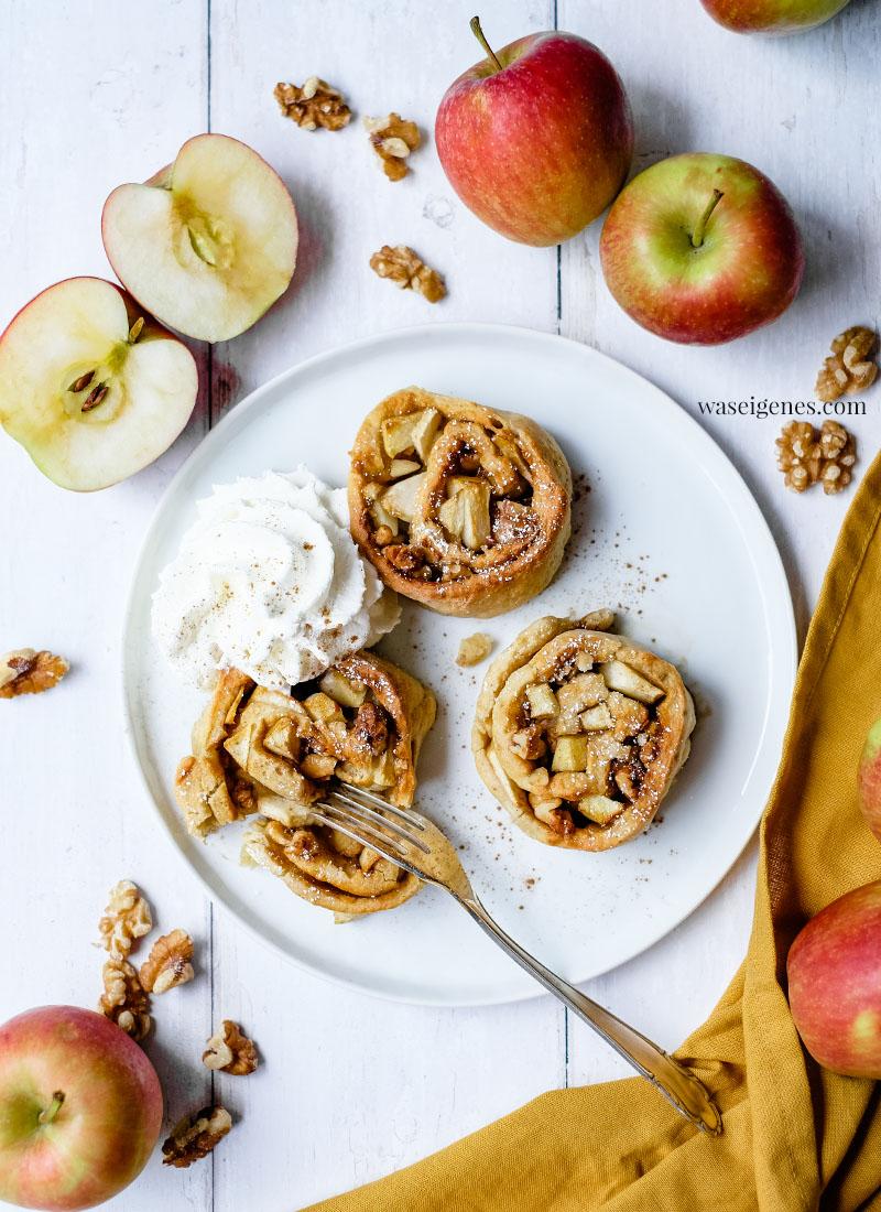 Rezept für leckere Apfel-Joghurt-Schnecken {ohne Hefe}   waseigenes.com   Rezepte mit Äpfel   Was backe ich heute?