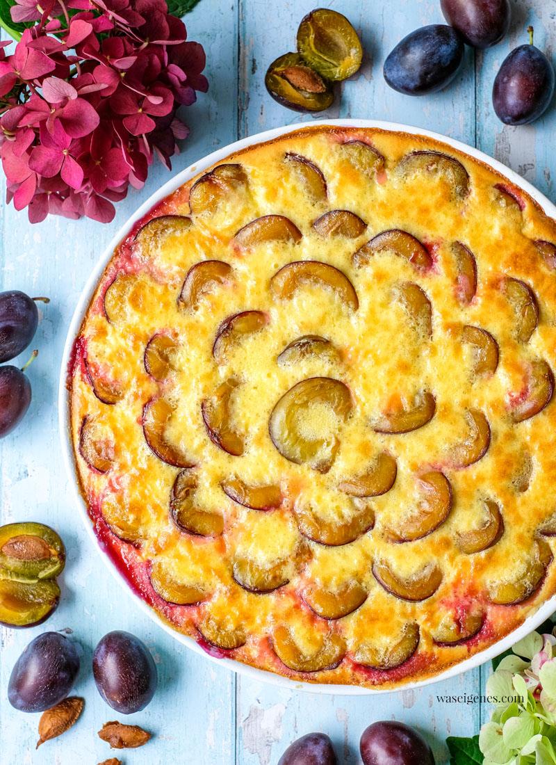 Rezept: Pflaumentarte mit Pudding-Schmand-Guss | waseigenes.com - Bine Güllich | Einfache und schnelle Rezepte für jeden Tag